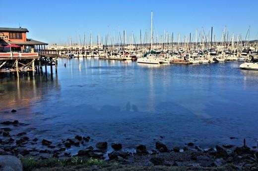 Boat harbor at Monterey's Fisherman's Wharf