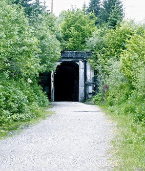 Long old railroad tunnel