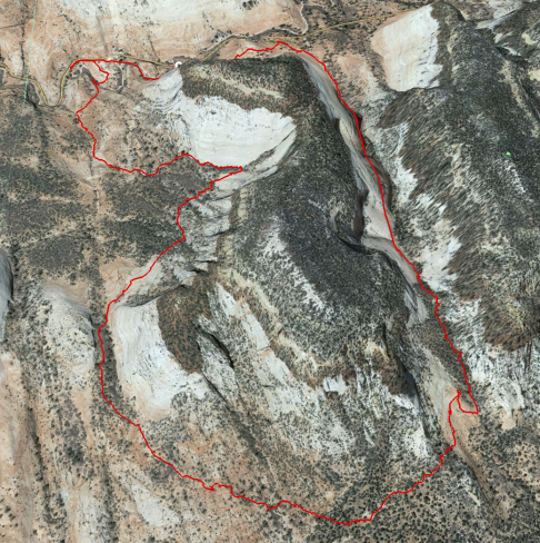Track for Separation and Checkerboard Canyons hike
